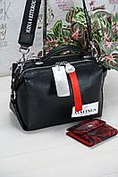 Двухсторонняя сумка-клатч Polina&Eiterou из мягкой натуральной кожи, арт. 978.