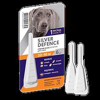 Капли на холку Silver Defence от блох, клещей, комаров для собак 30-40 кг, 6 мл