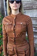 Платье замшевое коричневое