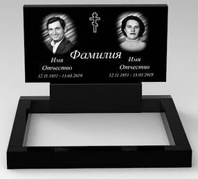 Подвійний пам'ятник з граніту (100-50-5) РВ-01/2