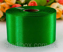 "Лента атласная 4см ширина (25 ярдов) ""LiaM"" Цена за рулон. Цвет - Зеленый (сп7нг-2371)"