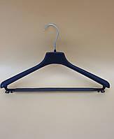 Вішак для легкого жіночого та підліткового одягу з перекладиною та протиковзаючою поролоновою губкою