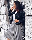 Женская юбка гофре миди, эко кожа, фото 4