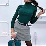 Жіноча твідовий спідниця з поясом, фото 4
