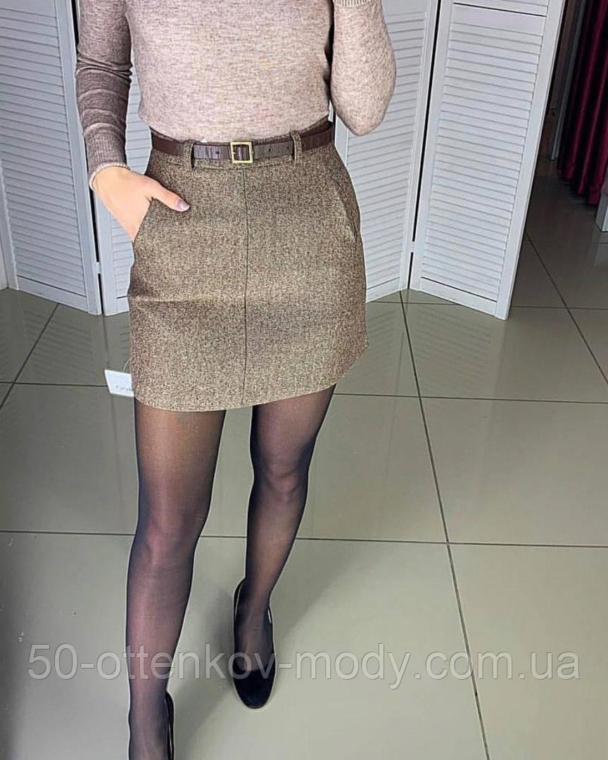 Жіноча твідовий спідниця з поясом