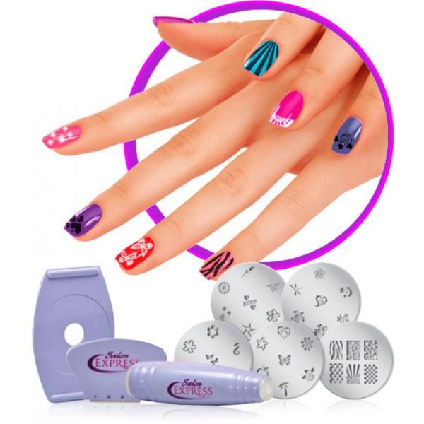 Маникюрный набор для узоров на ногтях Салон Экспресс | Cтемпинг для маникюра Salon Express