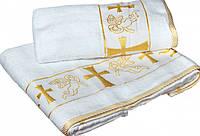 Крыжма- Полотенце для крещения вышивка Золото Серебро, фото 1