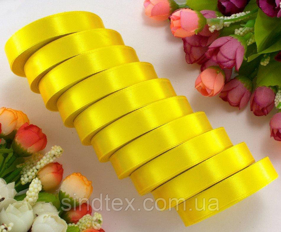 "(10шт) Атласная лента 1,2см 22-23метра ""LiaM"", лента Жёлтого цвета ОПТ (сп7нг-3121)"