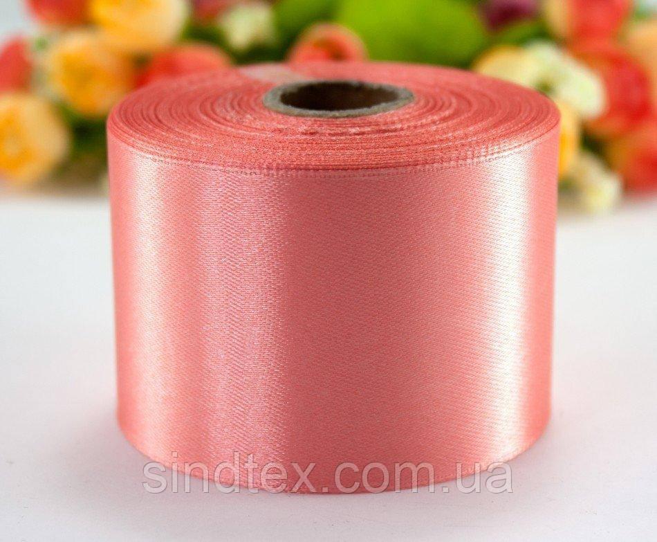 """Стрічка атласна 5см ширина (25 ярдів) """"LiaM"""" Ціна за рулон. Колір оранжево - рожевий (сп7нг-2673)"""