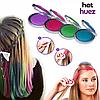 Цветная пудра для окрашивания локонов волос Hot Huez | Мелки для волос | Краска для волос Хот Хьюз, фото 4