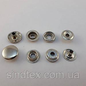 Кнопка №61 15мм Никель Нержавейка (720шт.) (СТРОНГ-0344)