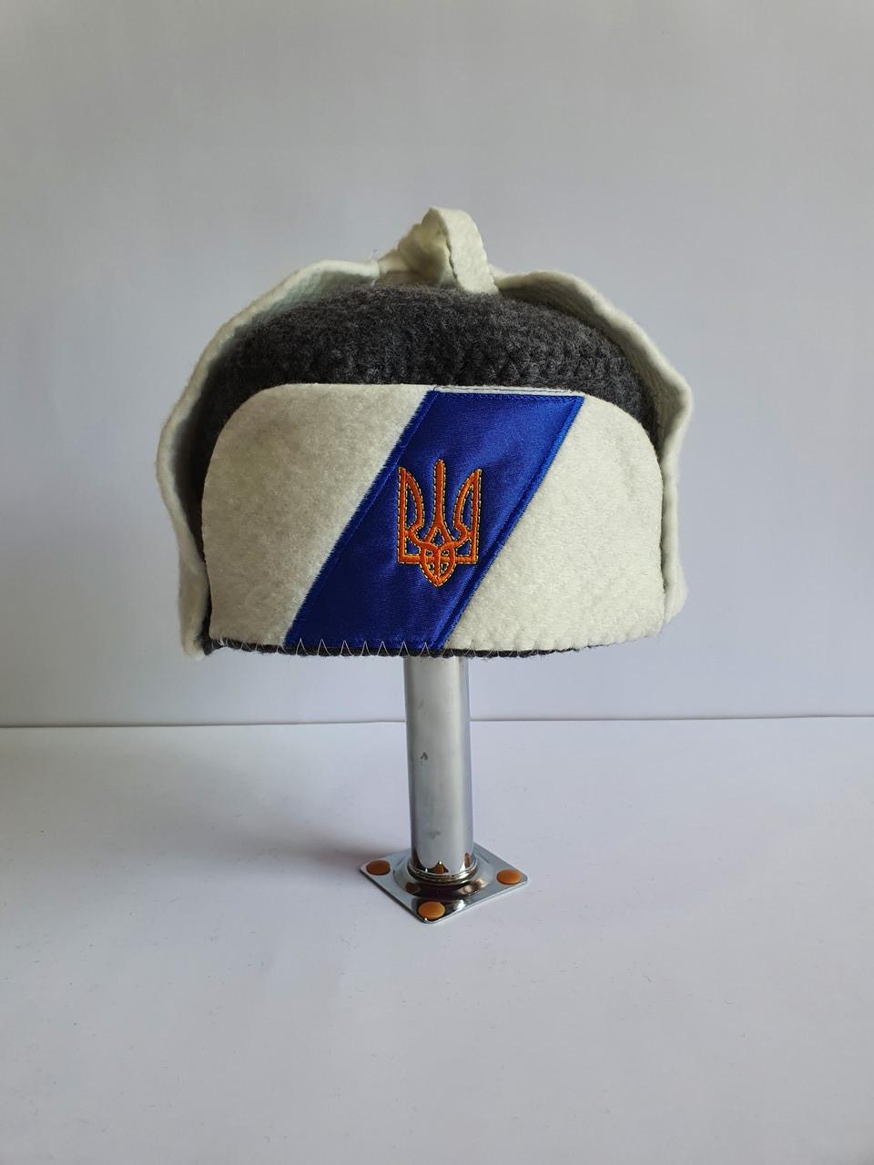 Авторська шапка для бані та сауни Вушанка