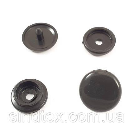 Кнопка пластикова 12,5 мм Чорна 1000шт. (СТРОНГ-0297), фото 2