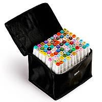 80 цветов! Набор двусторонних маркеров Touch для рисования и  скетчинга на спиртовой основе  80 штук