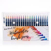 Качественные акварельные маркеры  20 цветов . Набор маркеров для рисования