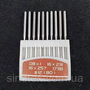 Иглы для промышленных машинок 97 класса №80 10шт. (СТРОНГ-0031)