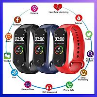 Фитнес трекер Xiaomi Mi band 4, Fitnes tracker M4, часы для фитнеса, smart watch, смарт годинник, РЕПЛИКА
