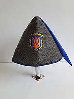 Авторська шапка для бані та сауни Козацька з синім шликом