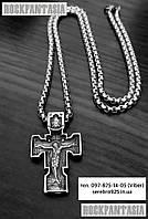 Мужской крестик православный из стали медицинской