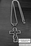 Мужской крестик православный нательный из стали медицинской