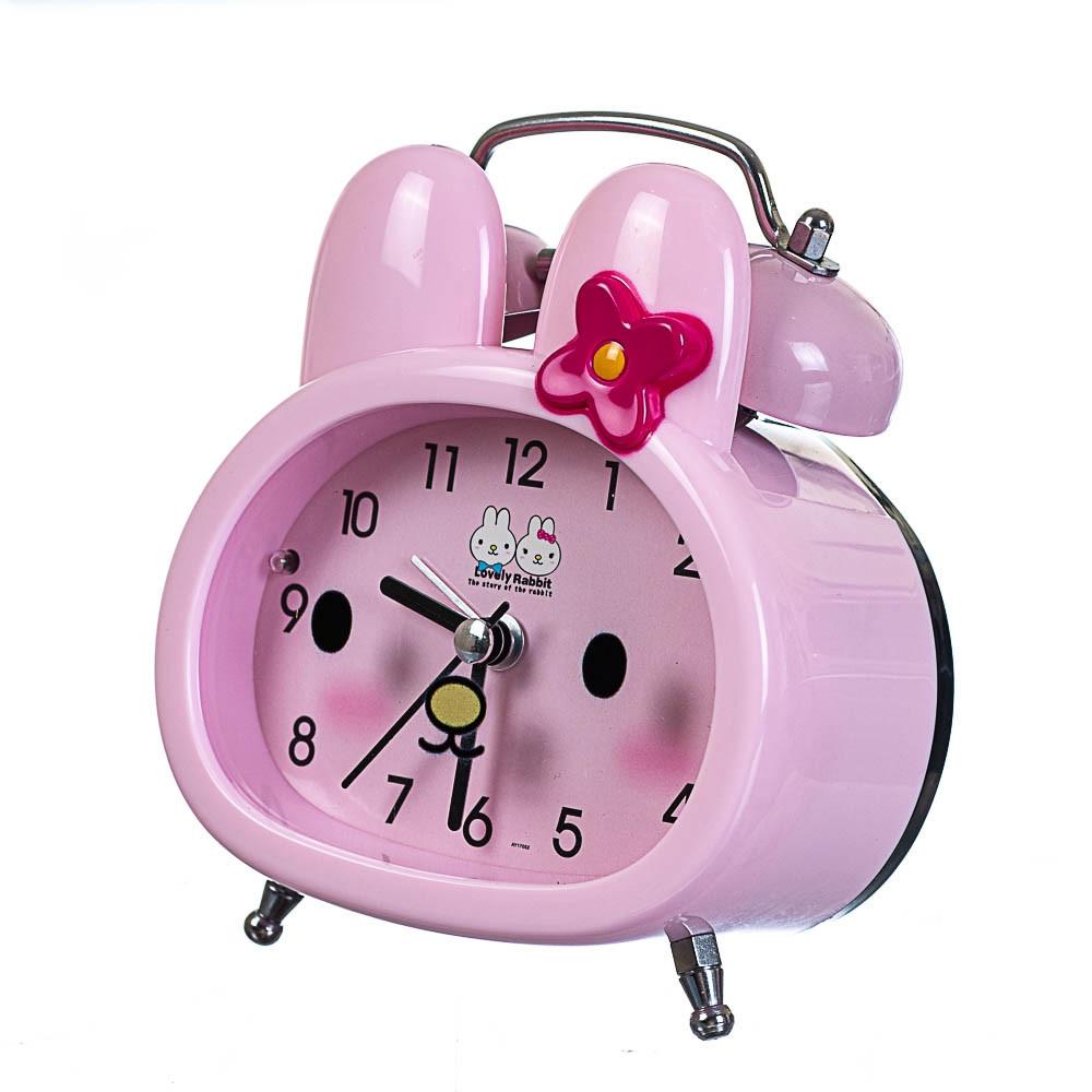 Часы будильник Lefard Зайка 10х12х5 см 12008-008-B настольные детские часы розовые с зайчиком