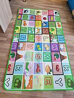 Детский игровой складной коврик для ползания двусторонний Футбол - Алфавит 180*120 см