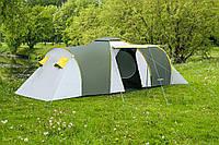 Палатка туристическая Presto Nadir 6 мест двухкомнатная с тамбуром клеенные швы Польша (3500 мм) зеленая