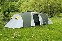 Палатка туристическая Presto Nadir 8 мест двухкомнатная с тамбуром клеенные швы Польша (3500 мм) зеленая