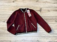 Замшевая куртка- бомбер для девочек.  122- 140 рост.