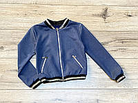 Замшевая куртка- бомбер для девочек.  122- 152 рост.