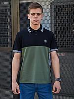 Мужская футболка Polo BEZET Original black/khaki 2.0'20, фото 1