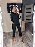 Женский повседневный костюм цвета: чёрный, хаки, беж размеры 42-44, 46-48, 50- 52, 54-56, фото 3