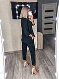 Женский повседневный костюм цвета: чёрный, хаки, беж размеры 42-44, 46-48, 50- 52, 54-56, фото 6