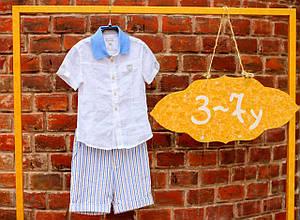 Детские нарядные шорты для мальчика BABY A Италия B0836 беж