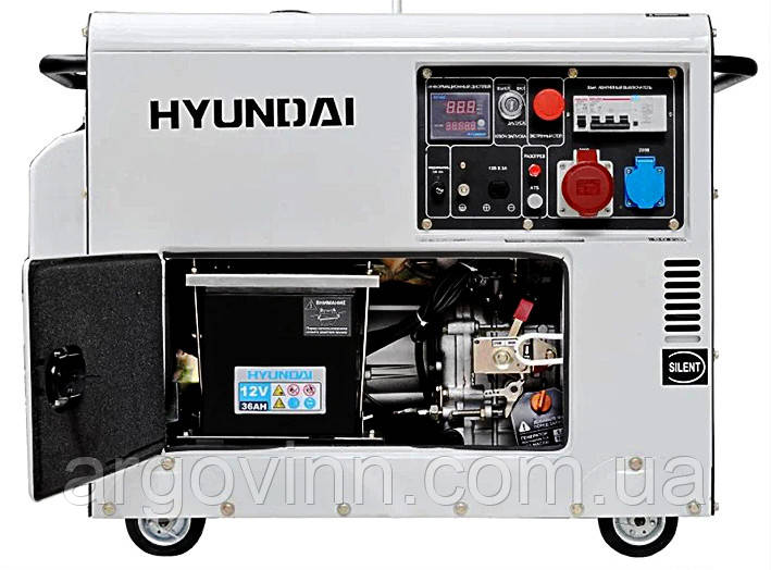 Генератор дизельний Hyundai DHY 8000SE-3 (Південна Корея)