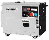 Генератор дизельний Hyundai DHY 8000SE-3 (Південна Корея), фото 2