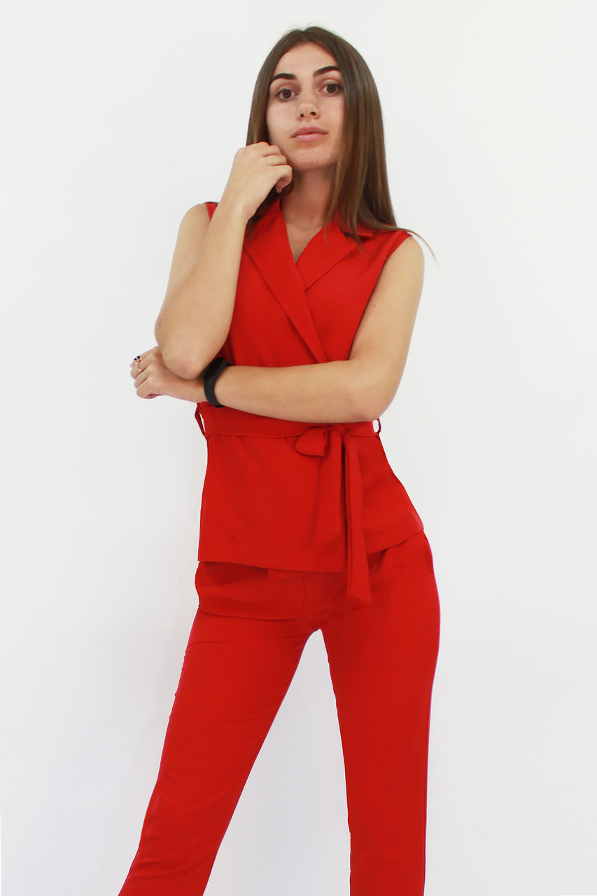 Стильний жіночий костюм Archer, червоний
