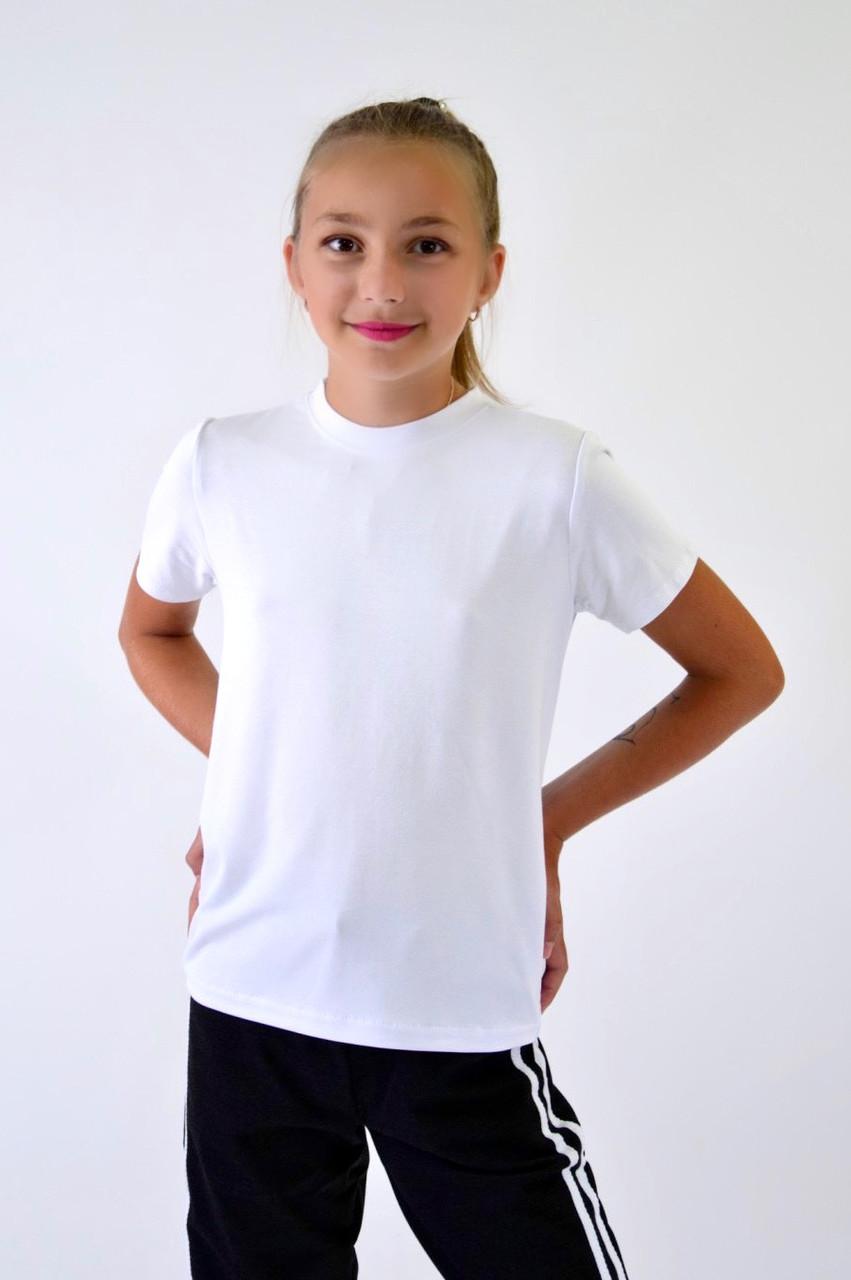 Детская футболка белая  122-128-134-140-146-152