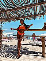 Женский купальник Kerry, стильный хорошего качества ,перфорированная турецкая лайкра, чашки пушап (см-л), фото 1