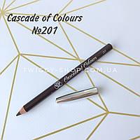 Карандаш для глаз коричневый Cascade of Colours 201