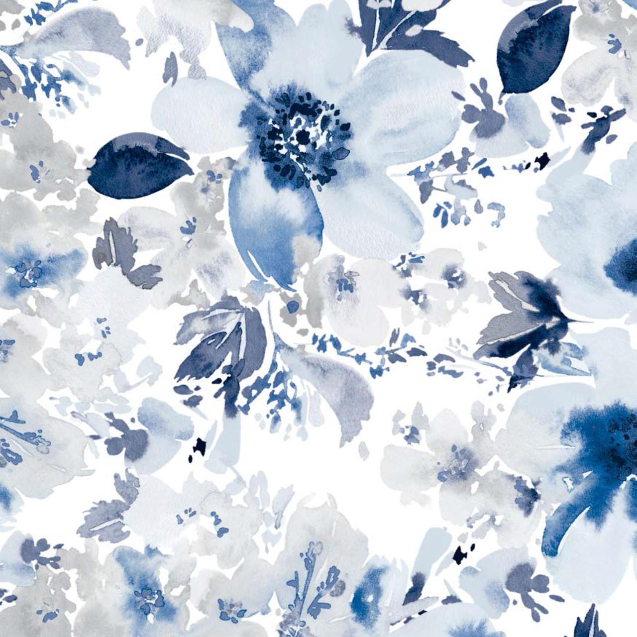 Мебельная ткань Amelia Blue 370456/2012, велюр з принтом