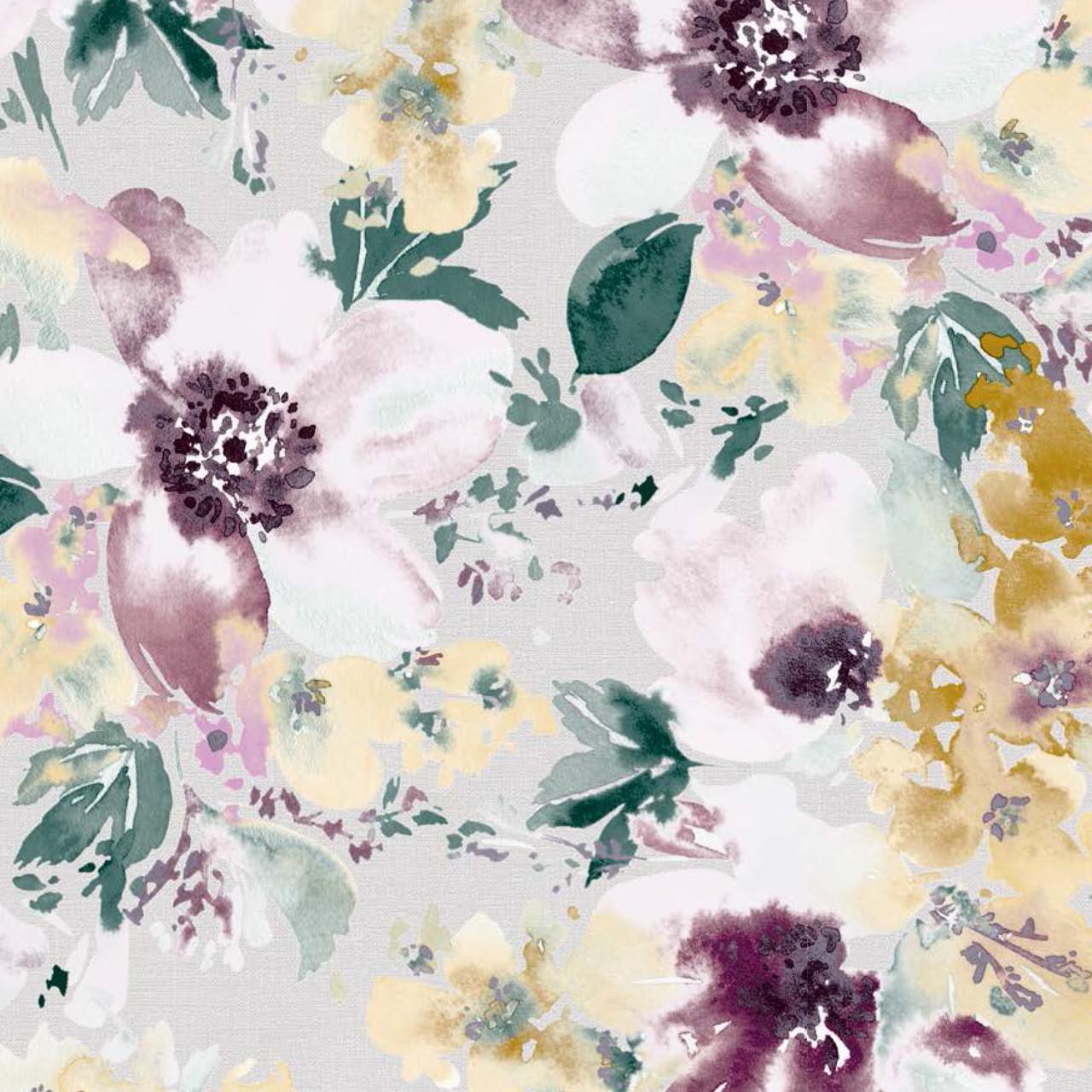 Мебельная ткань Amelia Violet 370456/2004, велюр з принтом