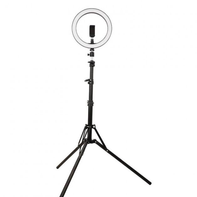 Кільцева світлодіодна лампа 26см на штативі 2 метри