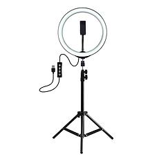 Кільцева світлодіодна лампа 26см на штативі 2 метри, фото 3