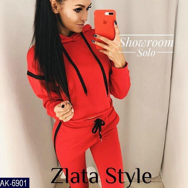 Спортивный костюм. Размер: 42-44, 44-46. Ткань: турецкая двухнитка. Цвет : черный,красный, меланж.