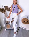 Женские штаны, турецкая двунить, р-р С; М; Л; ХЛ (белый), фото 2