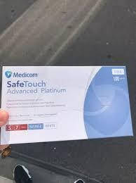 Перчатки медицинские. Белые нитриловые перчатки SafeTouch® Platinum White Nitrile РАЗМЕР S