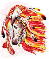 """Картина по номерам. """"Огненная лошадь"""" 40*50см укр KpN-01-07U"""