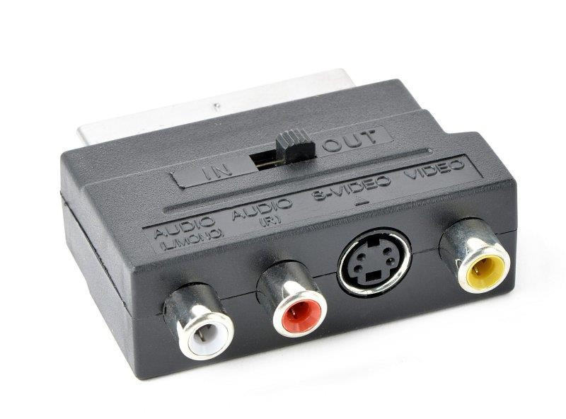 Адаптер Cablexpert (CCV-4415) SCART-S-Video/3xRCA, Black