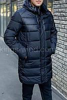 Удлиненная зимняя мужская куртка C20-1707С